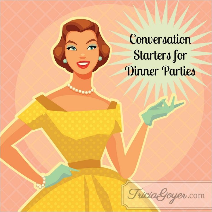 Dinner discussion dilemma? No problema! 6 conversation starters for your next dinner party or date night. :)