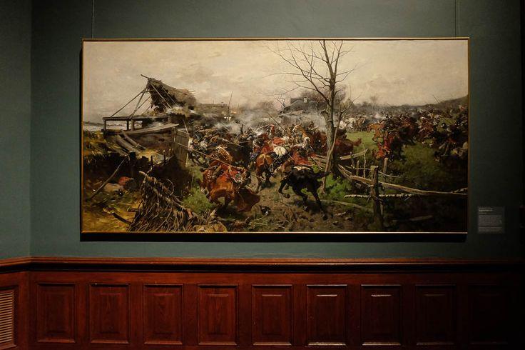 Józef Brandt (Polish, 1841 - 1915), Ein Gefecht (A Battle), 1888