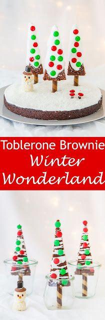 Toblerone Brownie Winter Wonderland — The Whimsical Wife #kawaii #chocolate #Christmas