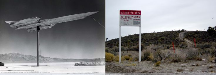 CIA secret retro supersonic jet Vs Area 51 warning sign