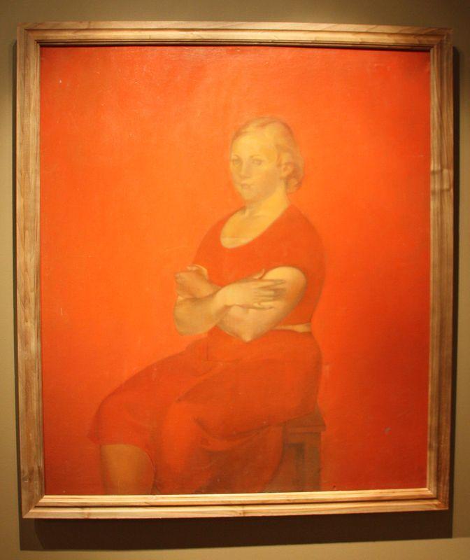 Сокровища Нукуса/Никритин Соломон Борисович (1898-1965), Портрет девушки в красном, 1935
