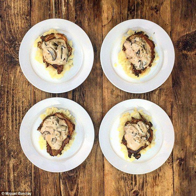 Pork Chops and Mash in a Creamy Mushroom Sauce - get recipe here…