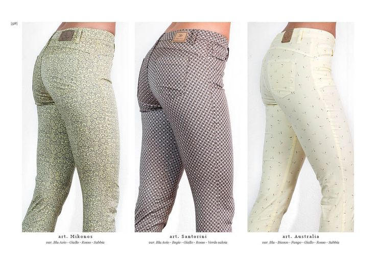 Collezione pantaloni Chiara Dalba  Spring Summer 2016 #denim #jeans #skinny #moda #donna #pantaloni #tapestry #tasche #elastici #luxury #catalogo #modelli #aderenti #stampati #tessuto
