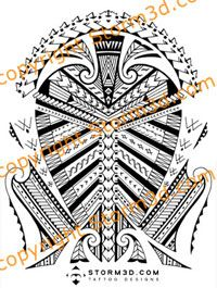 Maori inspired tattoo designs and tribal tattoos images: Samoan inspired shoulder tattoo design