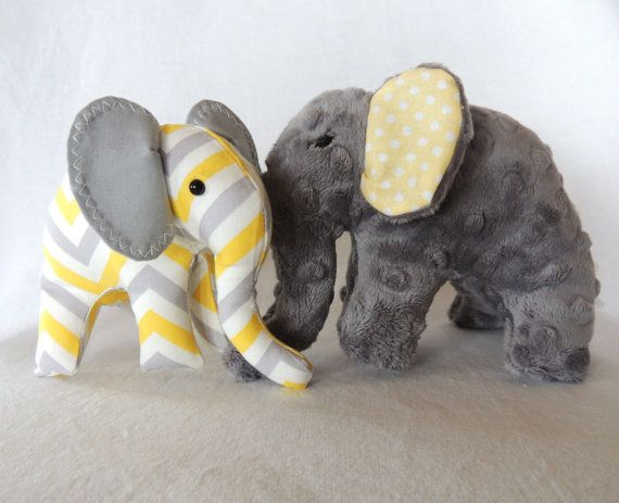 8 best baby idea images on pinterest baby showers elephant baby yellow grey chevron elephant plush toys yellow grey nursery decor negle Images