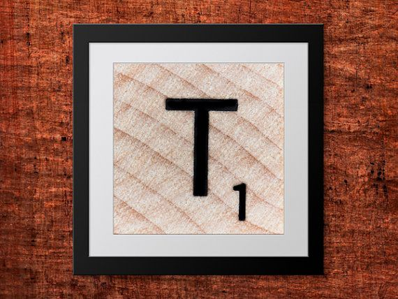 **Buy 2 get 1 FREE #teampinterest DIY Wall Art, Letter T-Personalized Word Art, Instant Download, Printable Letter, Scrabble Wall Art, Alphabet Art, Downloadable Image