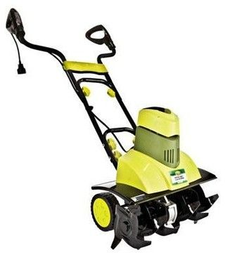 Although the Sun Joe Tiller Joe 9-Amp Electric Garden Tiller/Cultivator is an electric tiller, it still has the same power as any gas-powered model. With six steel angled tines, it loosens the ground without straining the operator through weight or motion.