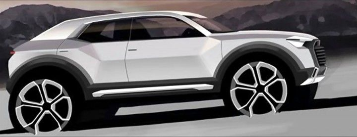 Audi Q1 Preview Design Sketch