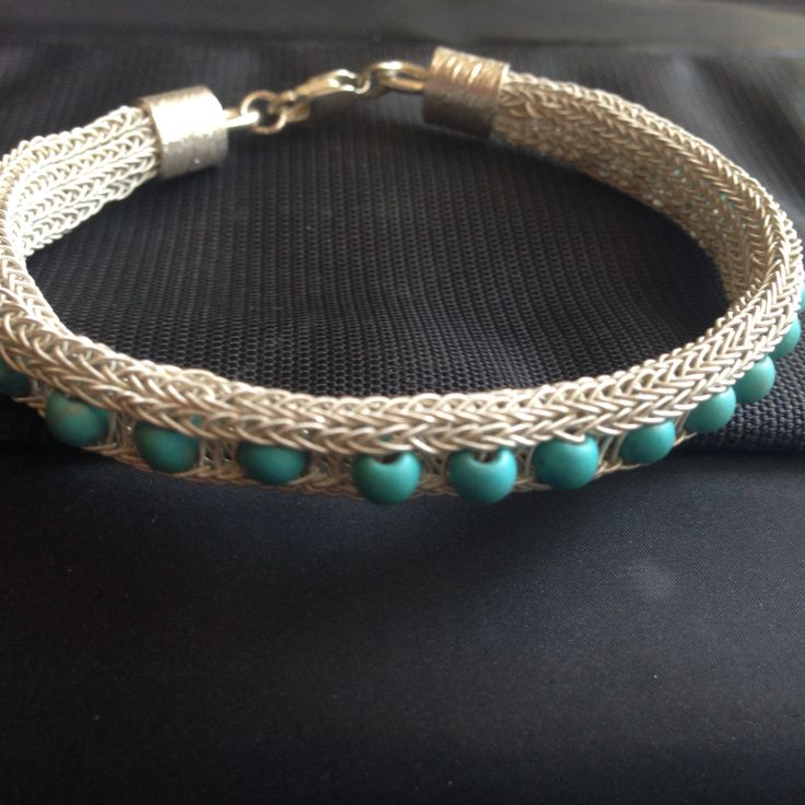 Silver, turkuaz, knot, bracelet By Nur 2015