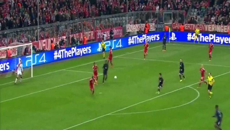Bayern Munich vs Manchester United   Patrice Evra Amazing Goal 2014