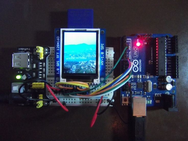 An image slideshow with an Arduino and a tft display with a sd card module