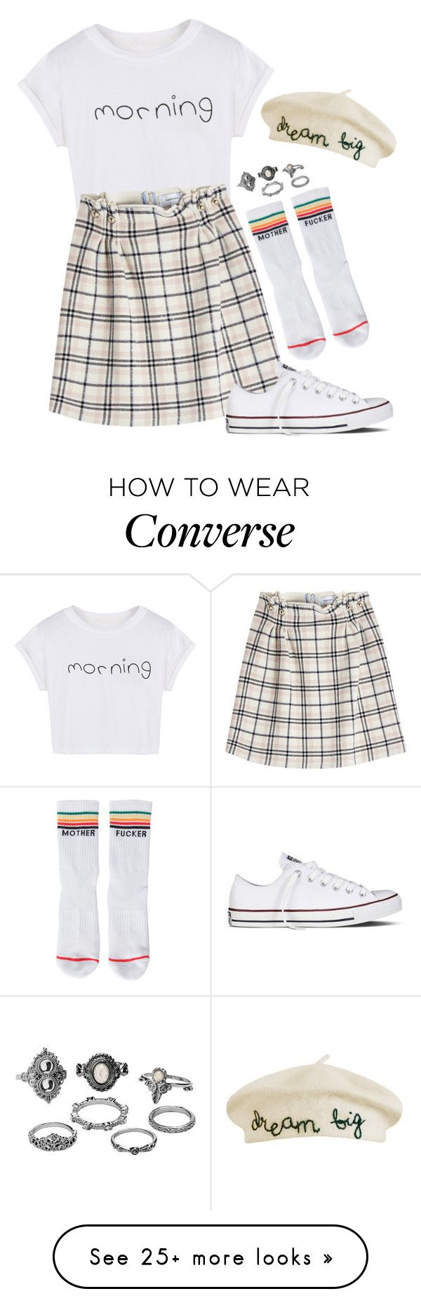 """""""Dream big"""" by bubblegum59 on Polyvore featuring WithChic, Mother, Charlotte Russe, Cynthia Rowley, Carven, Converse, contestentry and NYFWPlaid"""