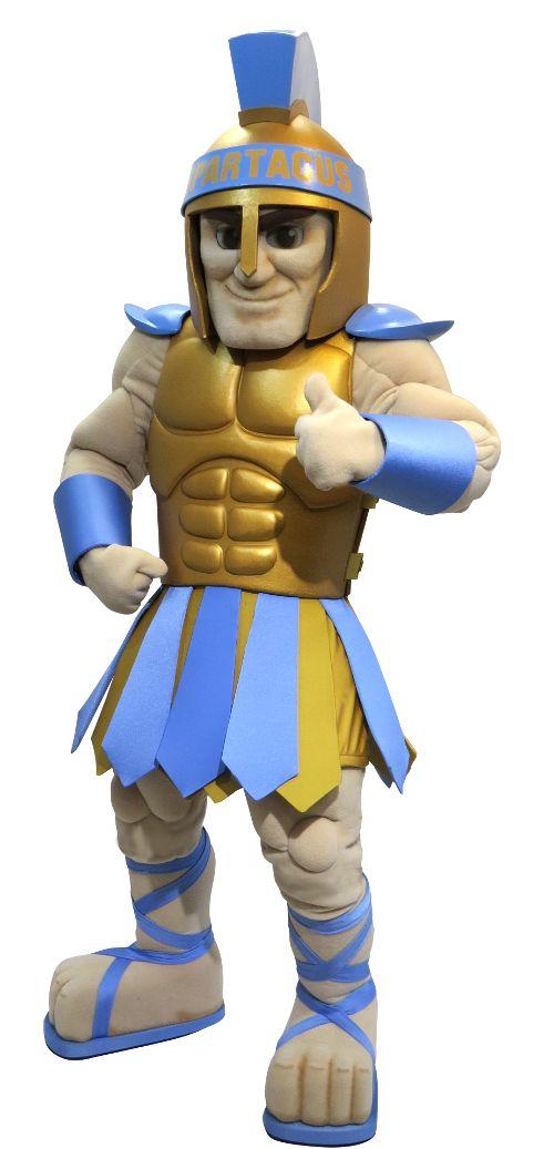 Greeley West HS Spartan Custom Knights Mascot