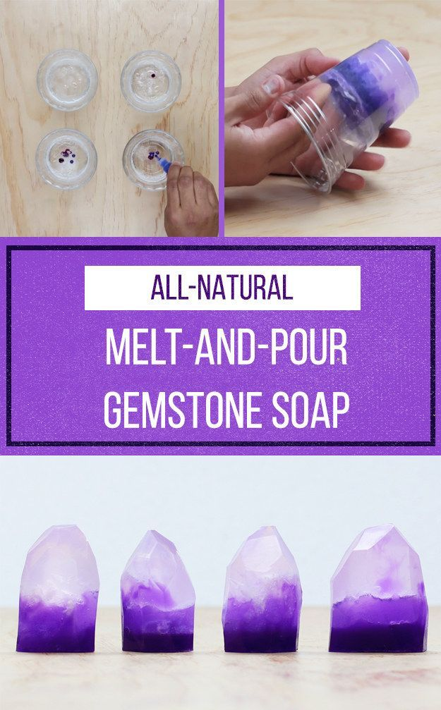 Feel Like A Bonafide Artisan By Making This Beautiful Gemstone Soap