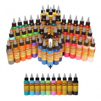 Complete Set of 60 30ml (1oz) Eternal Tattoo Ink - GOLD SET