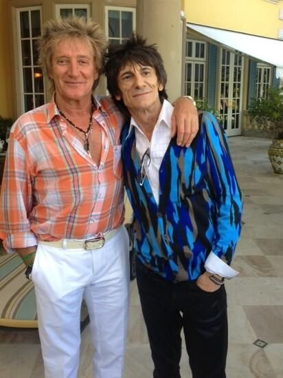 Rod Stewart - In between LA rehearsals I got to... • Celob.com ...