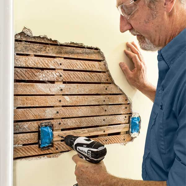 The right techniques and materials to repair damaged lath and plaster walls. | Photo: Ben Stechschulte | thisoldhouse.com