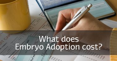 Q: What does Embryo Adoption Cost? A: Adopting frozen embryos and then having them implanted must cost a FORTUNE, right? Wrong! It can actually cost less than a traditional adoption. While most domestic and international adoptions cost upwards of $20,000 – an embryo adoption and FET (frozen embryo transfer) can be as little as $3,000. Here is …