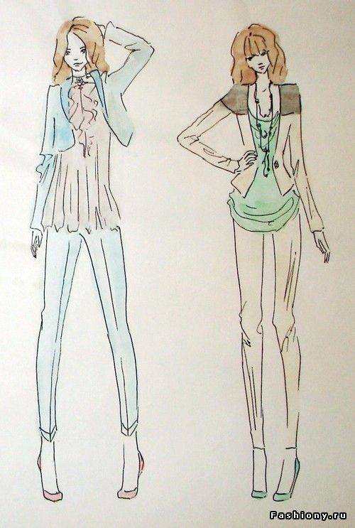Мои эскизы / как рисовать эскизы одежды