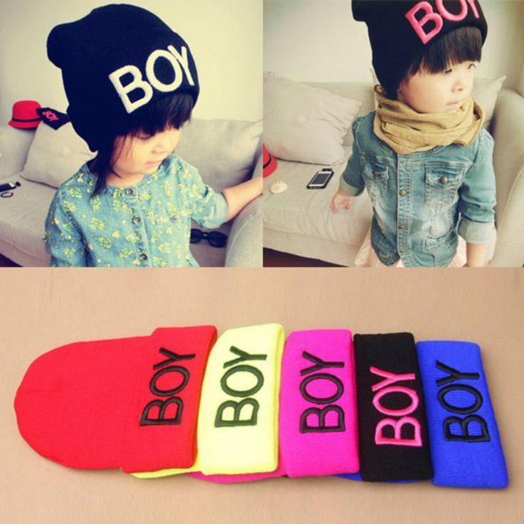 Nuovo modo del bambino della neonata boy inverno caldo di lana cranio cappelli boy beanie caps cappelli da sci