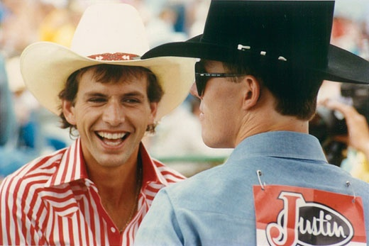 Lane Frost and Tuff Heidman, best bull riders and bestfriends