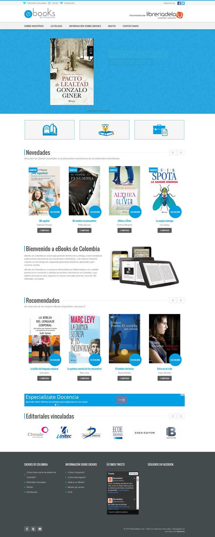 Diseño y desarrollo de portal web eBooks de colombia http://ebooksdecolombia.com/