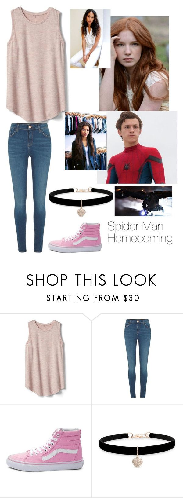 """Spider-Man homecoming fanfic:"" by viola-girl24 ❤ liked on Polyvore featuring Fraternity, Gap, River Island, Vans, Betsey Johnson and Marvel"