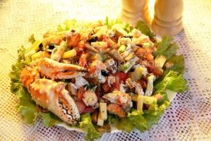salad with crab!   Салат с крабом