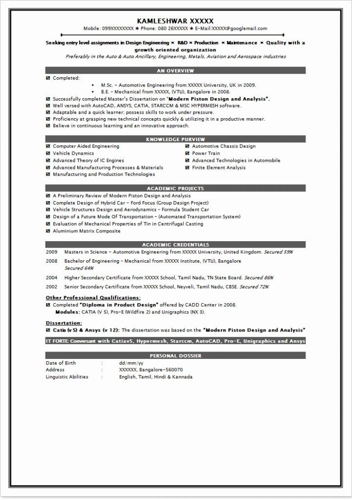 resume format for mba finance freshers pdf resume Home Decor, 2018