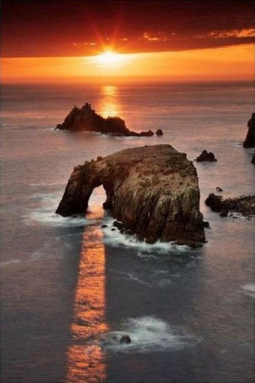 Sonoma Coast - The contrast of light and shadow in the sunset against the ocean is brilliant.