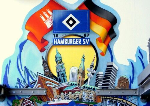 HSV Hamburg Graffiti 1887 Germany