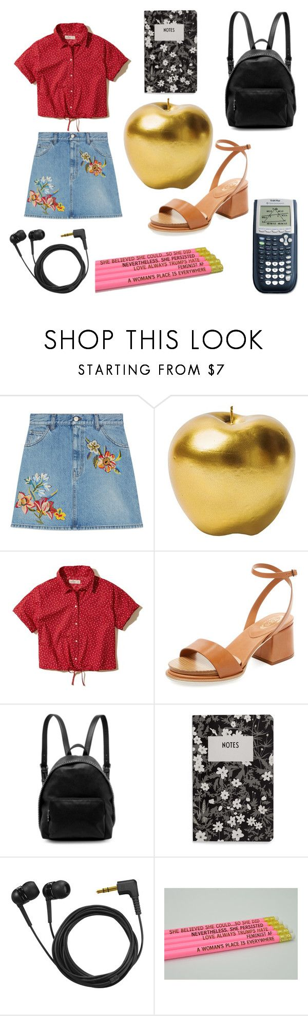 """""""TEACHERS PET"""" by newsquad ❤ liked on Polyvore featuring Gucci, Bitossi, Hollister Co., Tod's, STELLA McCARTNEY, Design Letters and Sennheiser"""