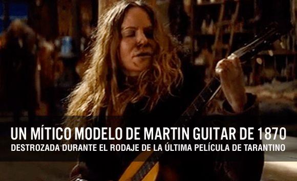 """Histórica Guitarra Martin destrozada en la película de Tarantino """"Los odiosos ocho"""""""