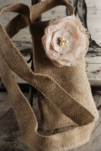 Burlap Bags with Rose