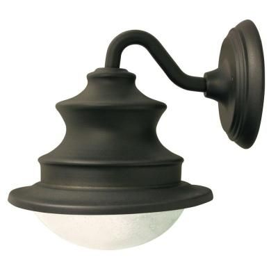 PORCH LIGHTING: $54.99 Gama Sonic Outdoor Brown Barn Light Solar LED Wall Mount-GS-122 at The Home Depot