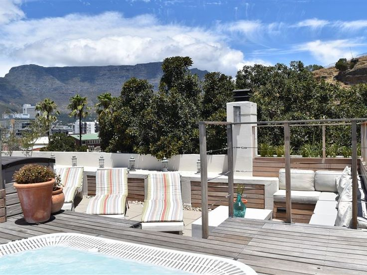 39 Dixon Street - This large five bedroom house is perfect for big families or groups.At the top end of Dixon Street this property has a front terrace where you enter into the open plan ground floor. French Windows span ... #weekendgetaways #dewaterkant #capetowncentral #southafrica