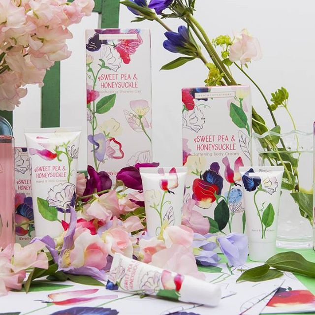 The new Sweet Pea & Honeysuckle range has arrived. New formulations, new design, new you?  Check the range out at heathcote-ivory.com.
