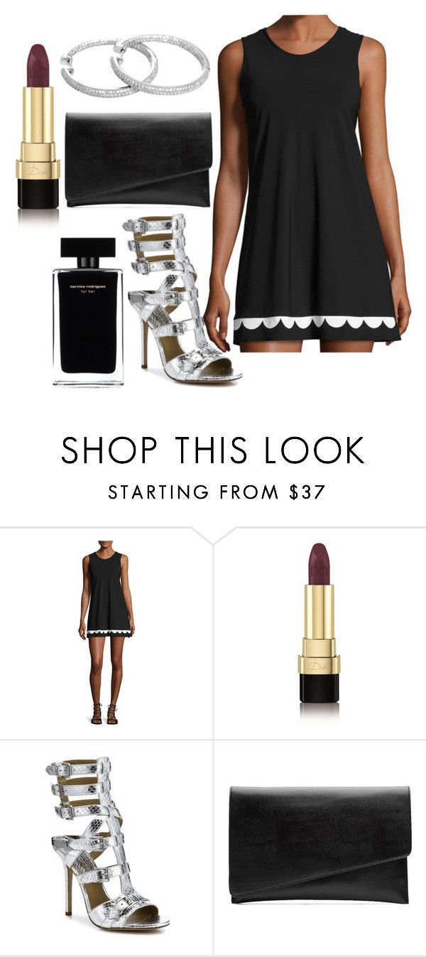 """Untitled #3333"" by fcharese ❤ liked on Polyvore featuring Karla Colletto, Dolce&Gabbana, Michael Kors, Narciso Rodriguez, Witchery, purple, Leather, Silver, michaelkors and blackandwhite"