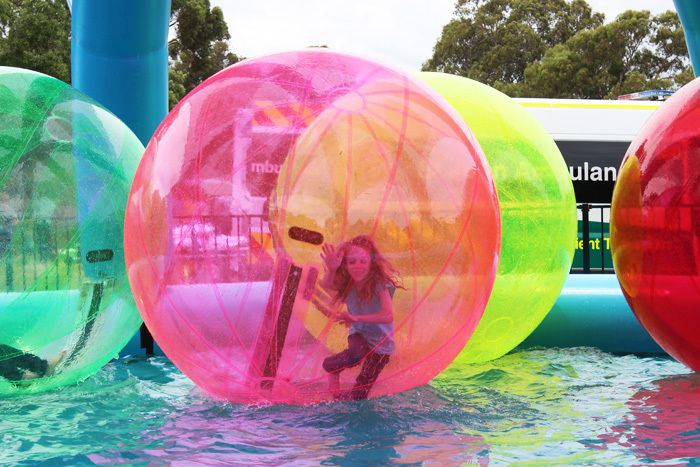 adelaide ballzup, aqua balls, water sports, river torrens, party activities