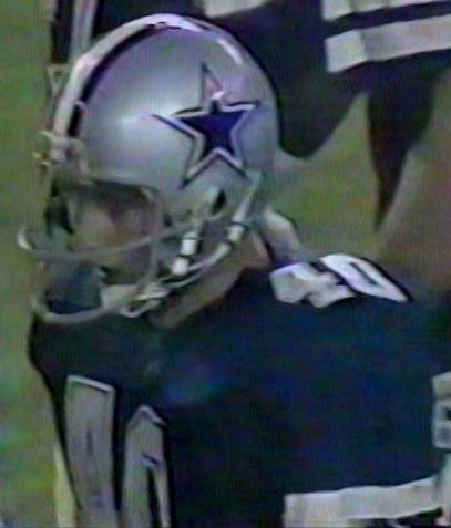 "Rookie safety BILL BATES (40) on ""Monday Night Football""--September 5, 1983"