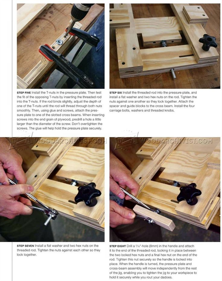 #3004 Router Dado Jig Plans - Joinery