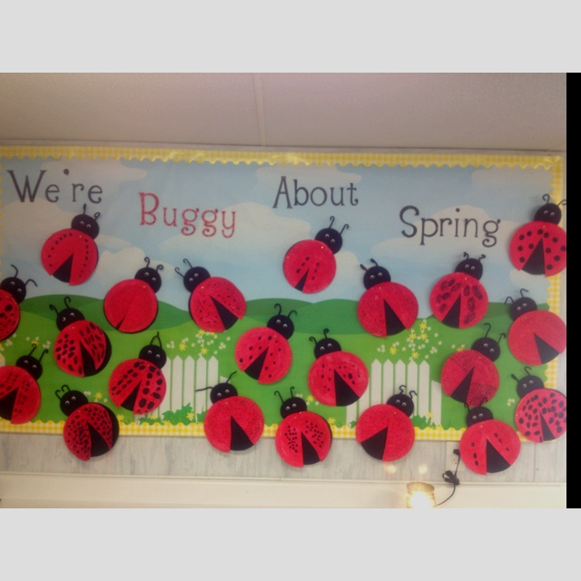 Bulletin board for ladybug unit