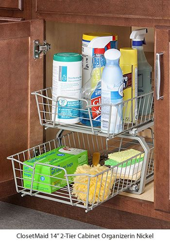 Closetmaid 2 Tier Cabinet Organizers Kitchen Storage Ideas Get Decluttered Now Offers A Complete Line Of That Make