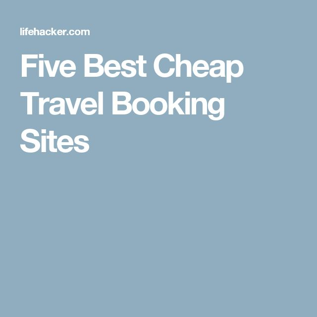 Five Best Cheap Travel Booking Sites