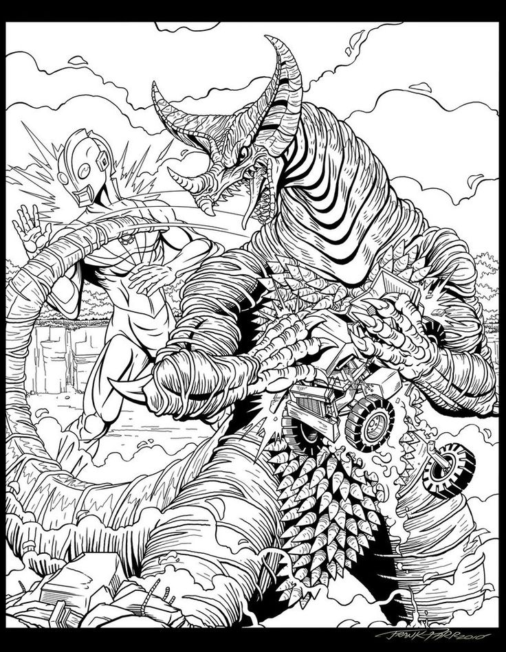 godzilla monsters coloring pages - photo#12