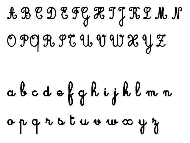 $お~い、きっきちゃん!? フランス語がんばろぅ♪-ecriture cursive francaise フランス語の筆記体 一覧