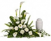 lily bouquet for the portrait, as an alternative to the asparagus fern idea