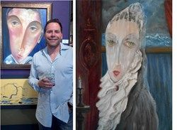 Paint Nite Master Artist Gregory Copploe won the American Art Awards in Expressionism-Human Figure Category!