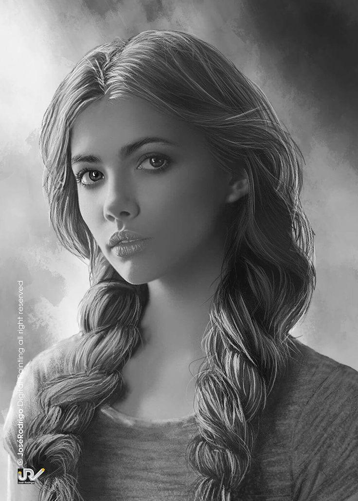 Картинки рисунки карандашом девушки фэнтези