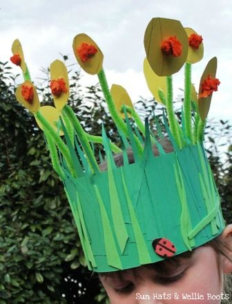 Spring crown crafts for preschool or Pre K!